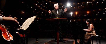 Van Cliburn screening auditions at the Liszt Academy